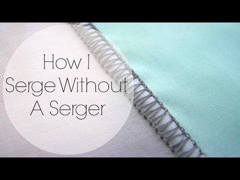 How I Serge W/Out A Serger (Want clean finishes, but dont have a serger? I'll show you how to do it with a sewing machine!)