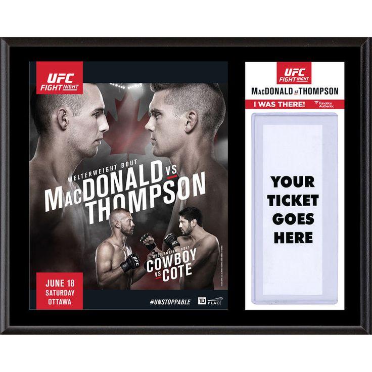"Fanatics Authentic UFC Fight Night Rory MacDonald vs. Stephen Thompson 12"" x 15"" Sublimated Plaque"