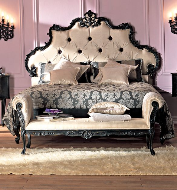 French Rococo Luxury Bed Bed Room Bedroom Decor Bedroom Furniture Home Decor