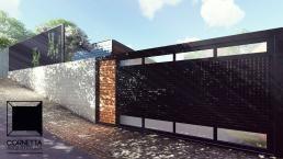 Projeto para uma de nossas casas de alto padrão pré fabricada em estrutura metálica. Conheça nosso trabalho, acesse nosso site!