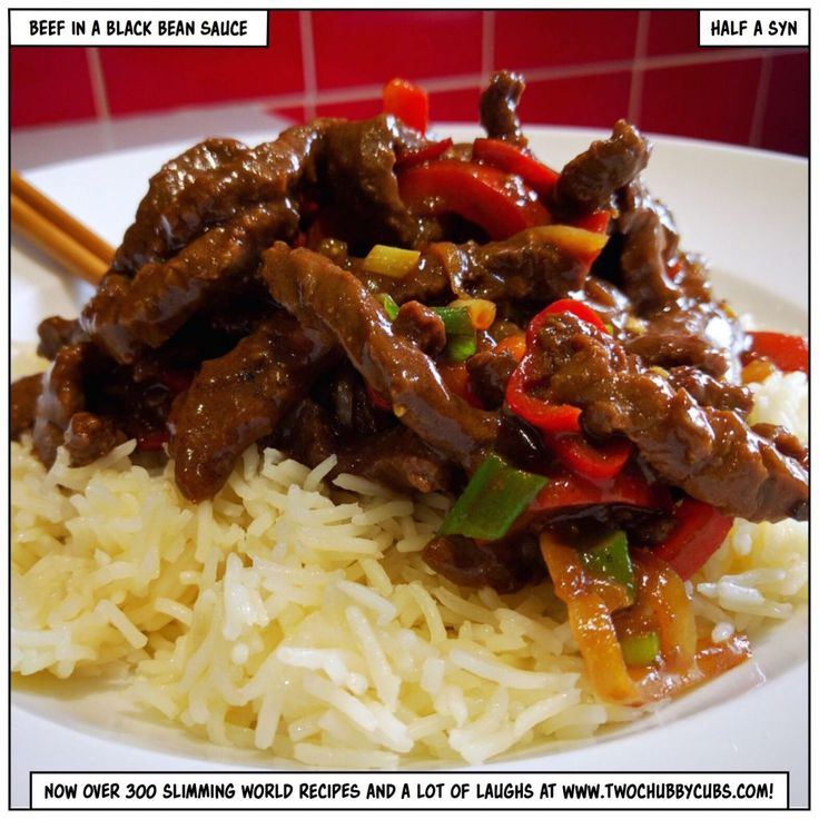 beef in a black bean sauce