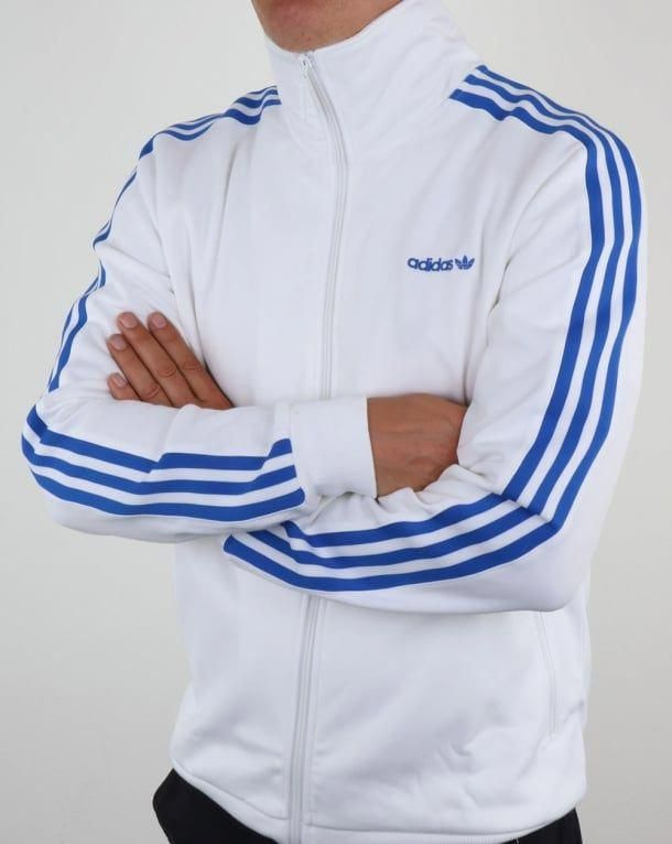 13e34c7ee1e Adidas Originals OS Beckenbauer Track Top  White Blue
