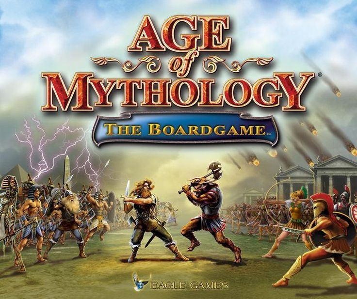 From Eagle Games website: Age of Mythology, the tremendously popular real-time strategy game from Ensemble Studios and Microsoft, gets the Eagle Games treatment! Players control armies made up of warriors, priests, heroes, and mythical creatures from ancient Greek, Egyptian, and Norse mythology. They gather resources, which allow them to create buildings and armies. Special buildings are required to allow players to build new army types and improve the abilities of their units. Battles are…