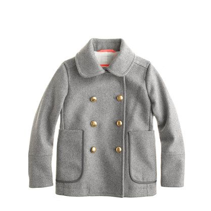 Girls' peacoat - wool - Girl's outerwear - J.Crew