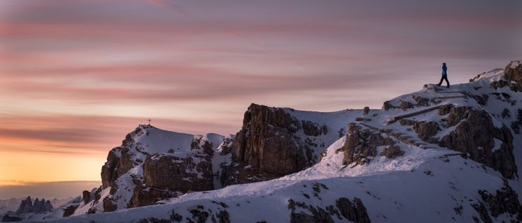 Looking at a Dolomite sunset by Guido Pompanin on 500px