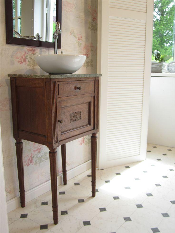 Waschtischunterschrank holz antik  16 besten Waschtisch Gästebad antik Bilder auf Pinterest ...