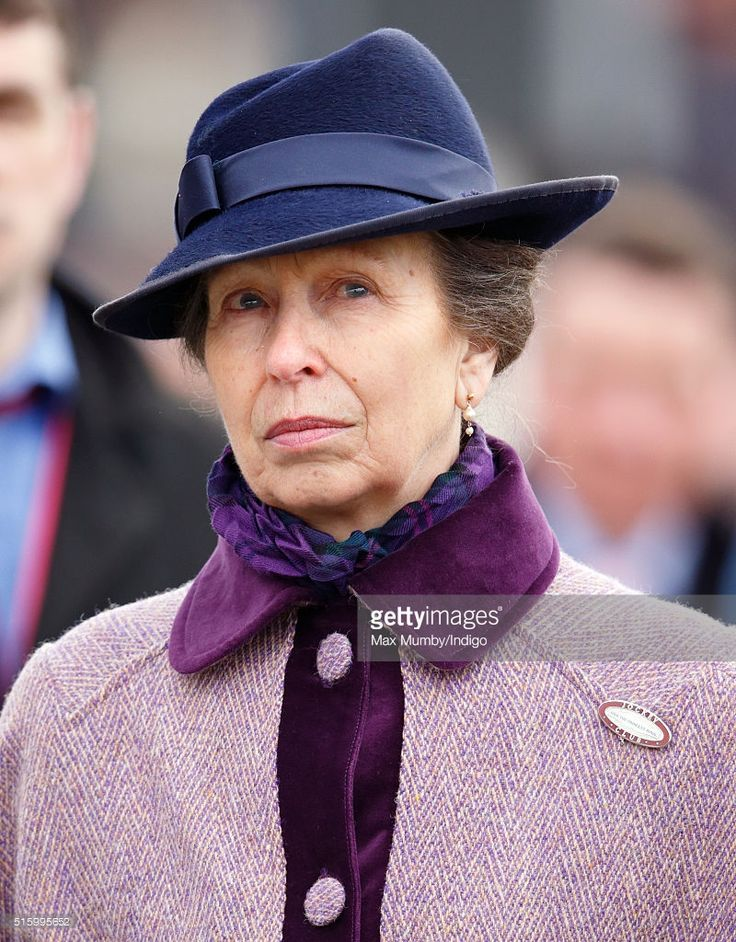 (EMBARGOED FOR PUBLICATION IN UK NEWSPAPERS UNTIL 48 HOURS AFTER CREATE DATE AND TIME) Princess Anne, The Princess Royal attends day 2, Ladies Day, of the Cheltenham Festival on March 16, 2016 in Cheltenham, England. (Photo by Max Mumby/Indigo/Getty Images)