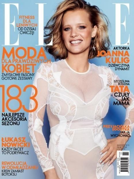 Joanna Kulig Elle Magazine Cover [Poland] (April 2013)