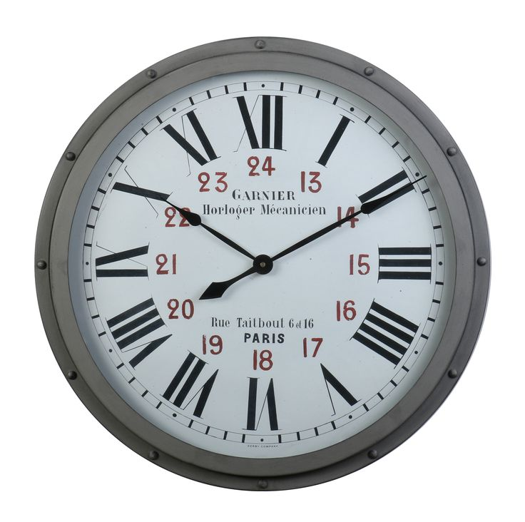 Garnier Grey Wall Clock