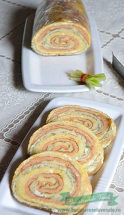 Rulada de omleta cu cascaval