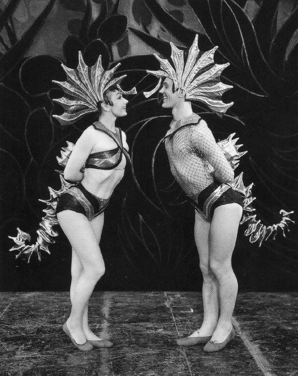 Seahorses - vintage costume