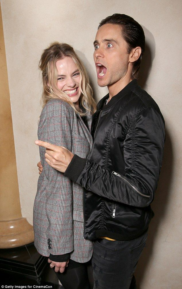Joke's on you: Jared Leto and Margot Robbie shared a laugh with the rest of the Suicide Sq...