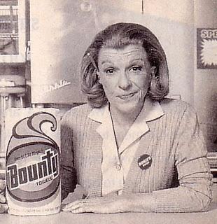 Rosie & Bounty, the quicker picker upper. Rosie really helped brand Bounty, Marcie Fleischman
