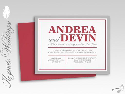 Reception Invitation Wording After Destination Wedding: 109 Best Images About N&K Celebration On Pinterest