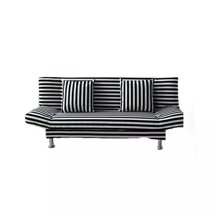 Rm 3 seater foldable stripe sofa bed lazada for Sofa bed lazada