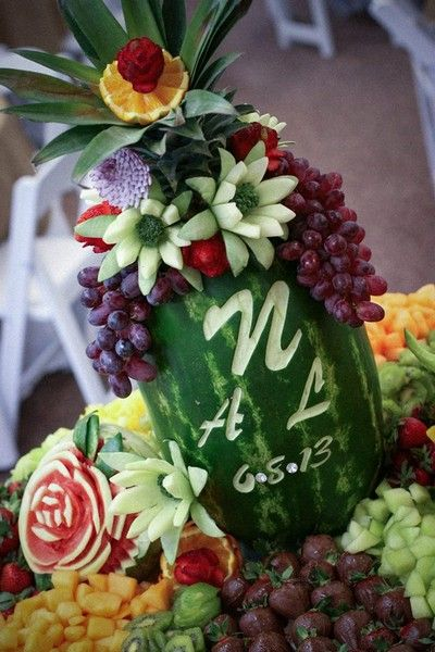 Personalized Watermelon Fruit Carving