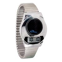Stylish Digital Talking Watch With Silver Expansion Band   English