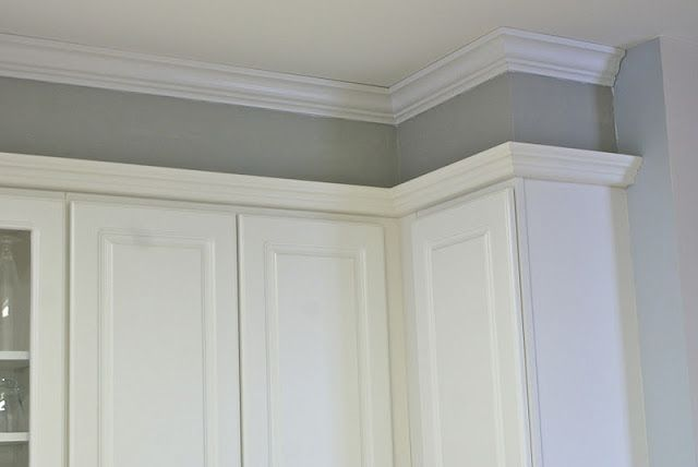 Idea if we have to keep the soffit kitchen pinterest for Kitchen molding ideas