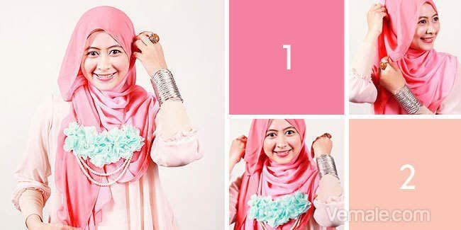 Vemale.com - Agar tampil semakin menarik, para wanita berhijab bisa mengkreasikan model hijab mereka dan menyematkan beberapa macam aksesoris sebagai pemanis.