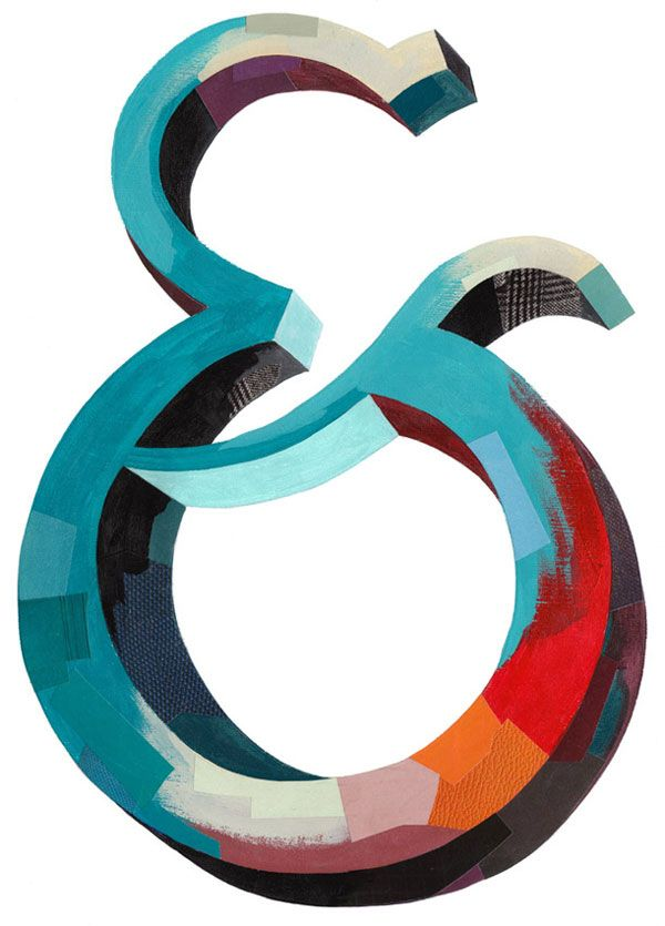 Ampersand by Darren Booth: Darren Booths, Color, Illustration, Art, Graphics Design, Paintings Letters, Cardboard Letters, Claws, Typography