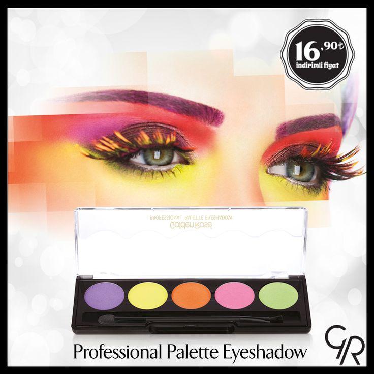 Birbirine uyumlu renkleri ile mükemmel bakışlar yaratan Professional Palette Eyeshadow, Mart indiriminde 16,90 TL! http://www.goldenrosestore.com.tr/professional-palette-eyeshadow.html