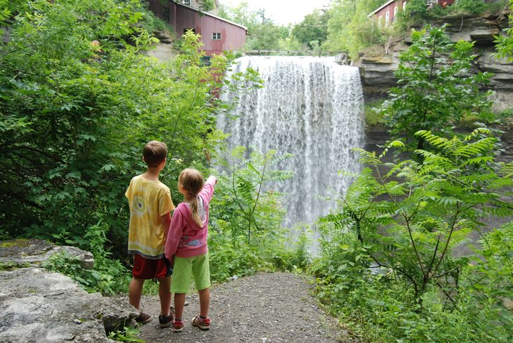 This photo was used in a magazine layout for an article on DeQew Falls