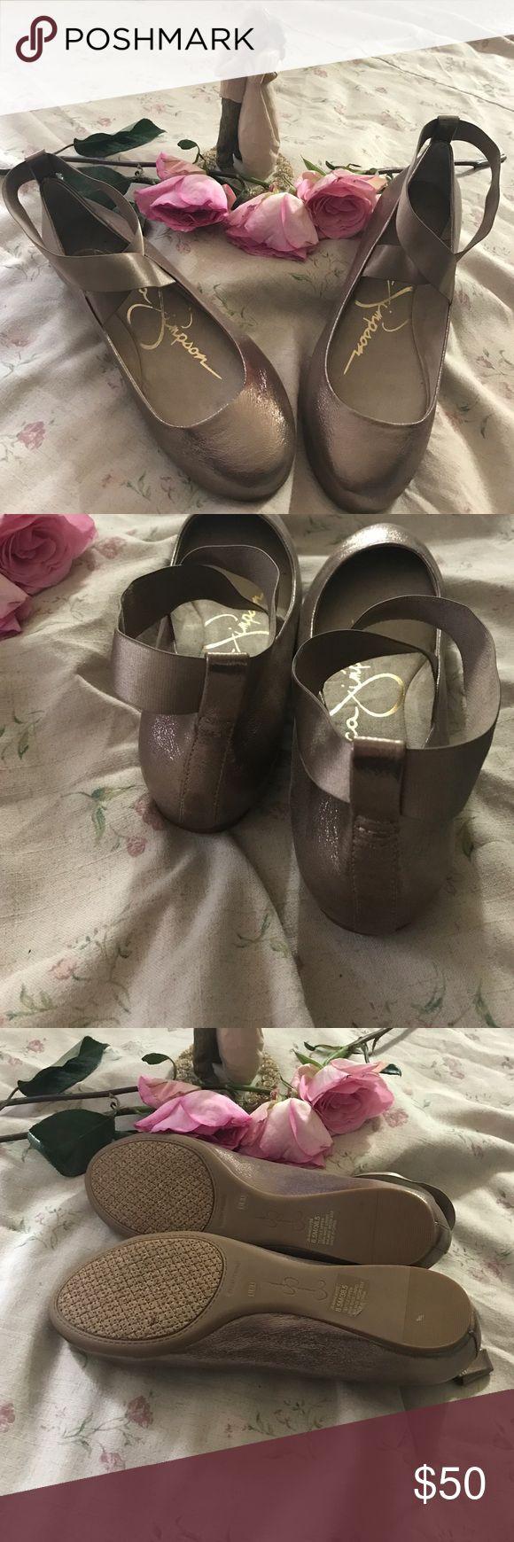 NEW Jessica Simpson Mandayss Ballet flats New. No box. Size 8.5. Color sandbar/gold Jessica Simpson Shoes Flats & Loafers