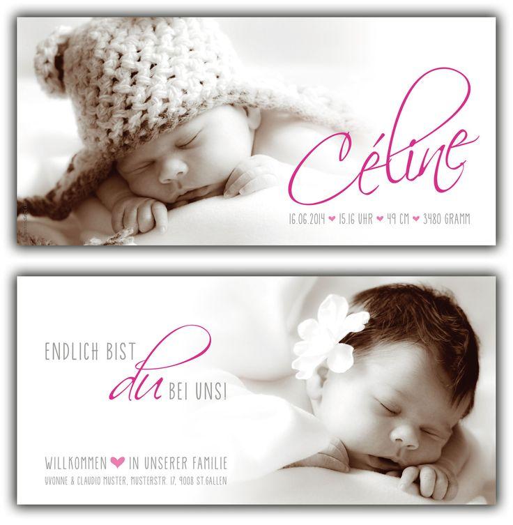 Céline: 210x100 mm // Karte ist auch in ihrer Wunschfarbe erhältlich // (©Fotos: http://www.corinnechollet.ch)