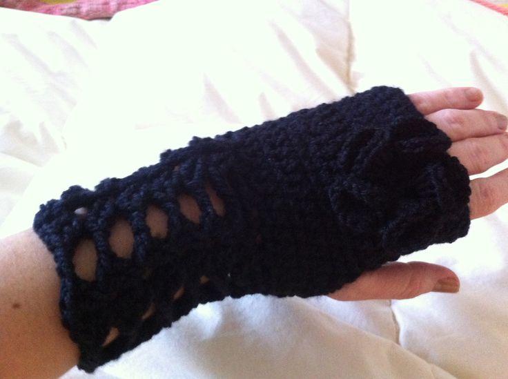 Guante de lana a crochet