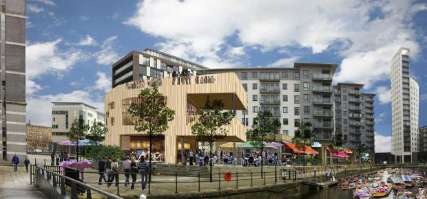 Allied London has submitted a planning application for a large new workspace in Leeds Docks.