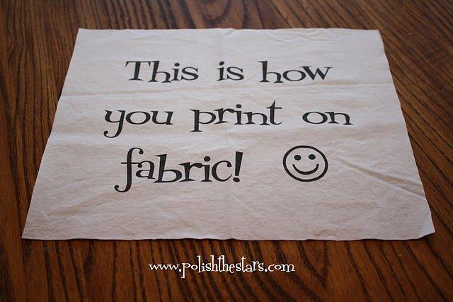 print on fabric.  GENIUS!