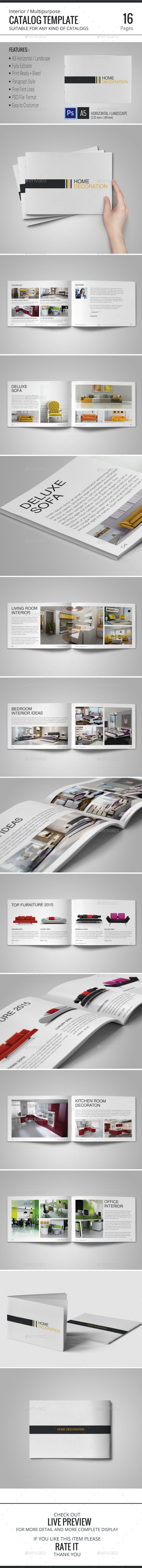 Interior Catalog Template Check out on : http://graphicriver.net/item/interior-catalog-template/10424630?ref=habageud