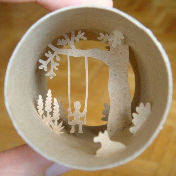 Artista francesa cria cenas em miniatura dentro de rolos de papel higiênico - BOL Fotos