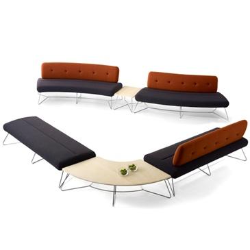 Freeflow Modular Bench | Allermuir | Working Environements Ltd #adaptable # Modular #seating
