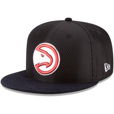 Men's Atlanta Hawks New Era Black NBA On-Court Original Fit 9FIFTY Adjustable Hat