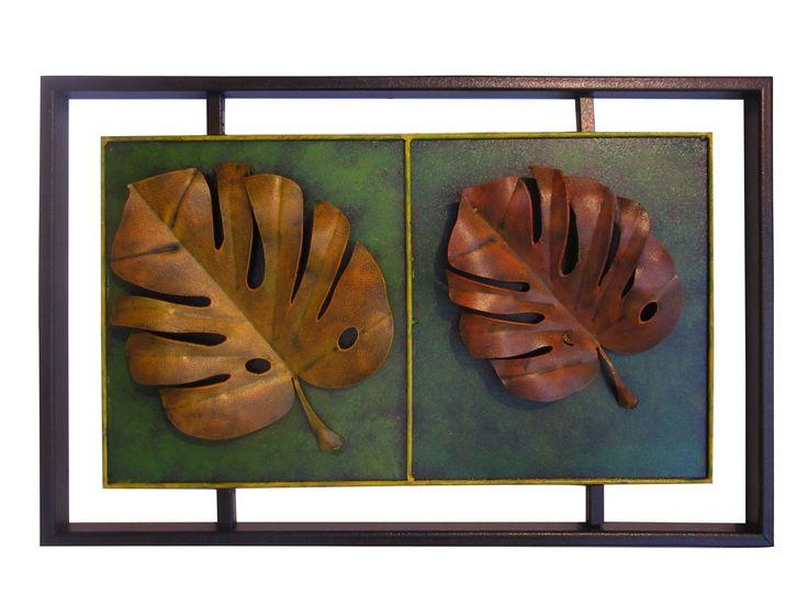 Cuadro Flotante Hojas Balazo 55 cm H x 80 cm W $ 140.000