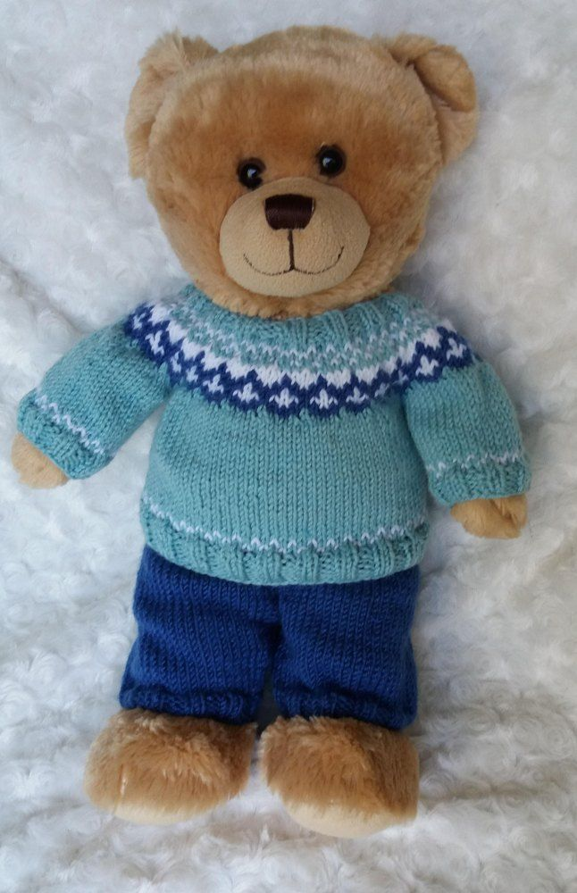 Teddy Nordic Outfit | knitting projects | Knitted teddy ...