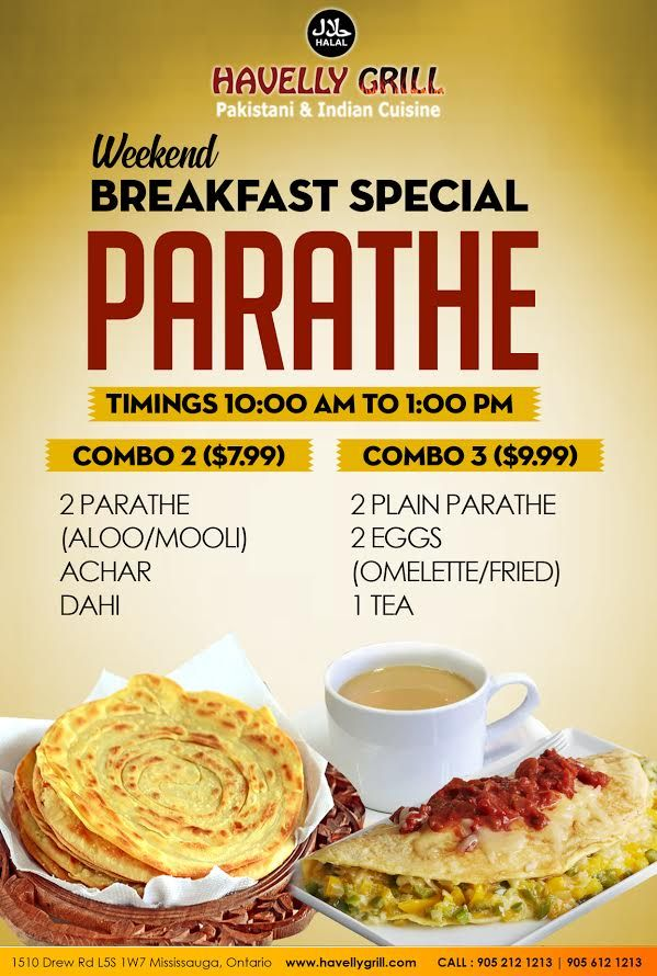 Looking For A Delicious Quick Breakfast Start Your Day With Havelly S Weekend Special Breakfast Parathe For Breakfast Specials Breakfast Weekend Breakfast