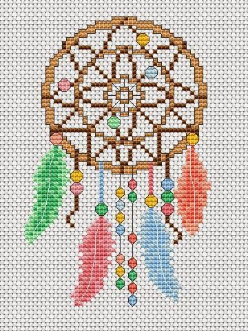 A little dreamcatcher free chart - a great addon to the stunning dreamcatcher design by Amanda Gregory for our issue 224 (Feb2015) of the magazine ;)