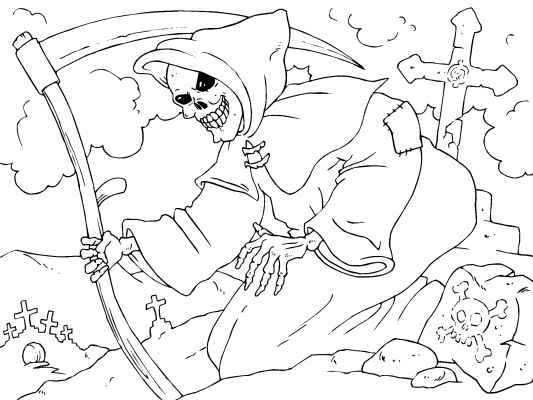 check out this scary grim reaper coloring page perfect for halloween see more halloween