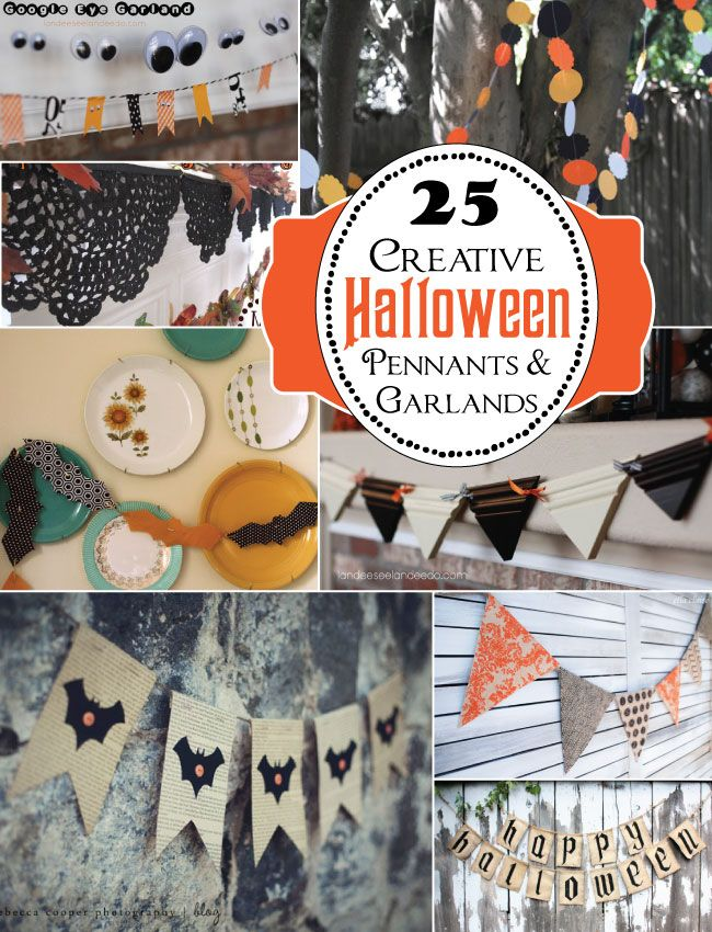 25 Creative Halloween Buntings & Garlands »Flamingo Toes