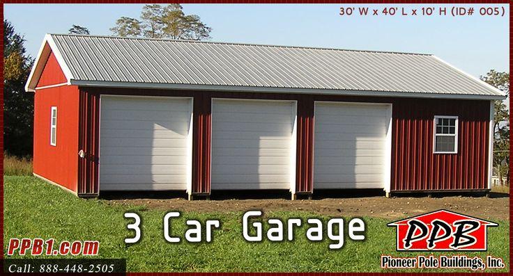 45 best three car garages images on pinterest car garage for 3 car garage door