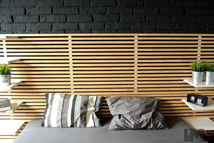 Czarna cegła dekoracyjna sypialnia loft imindesign4