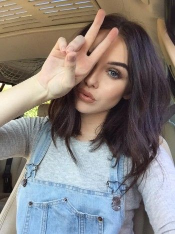 Acacia Brinley wearing a Brandy Melville May Top and makeup from the Urban Decay Naked Palette