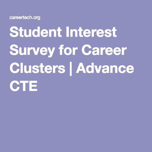 Student Interest Survey for Career Clusters   Advance CTE