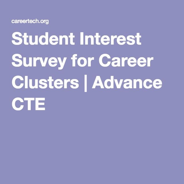 Student Interest Survey for Career Clusters | Advance CTE