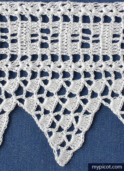 Sumas Point Lace #39. Diagram + step by step instruction by MyPicot | Free crochet patterns