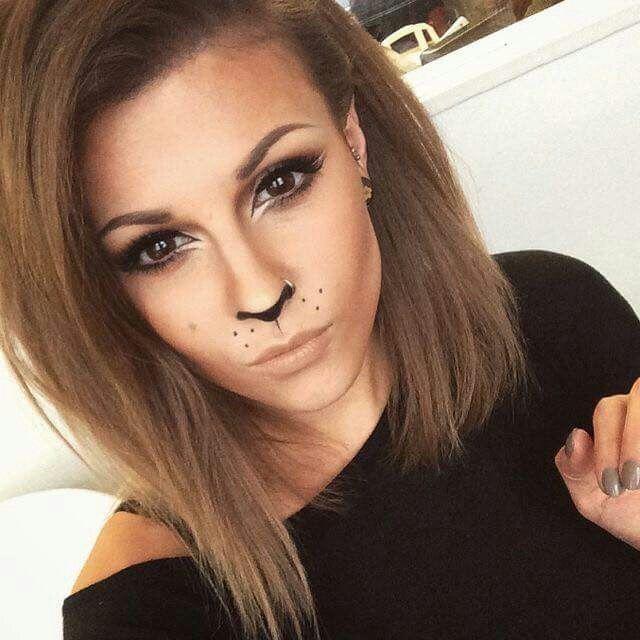 Leopard Halloween makeup