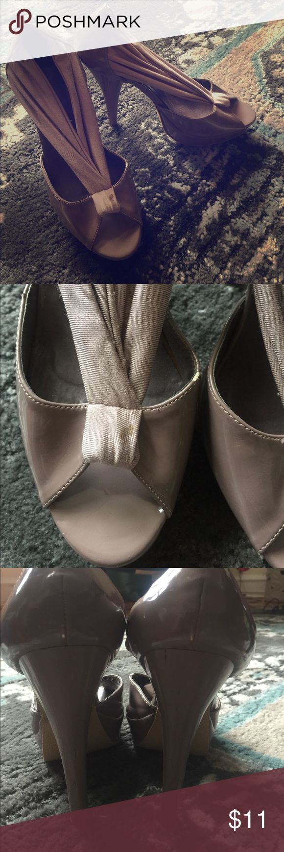 Madden Girl Mauve high heels Gorgeous heels. Some stains and scratches. Please look at photos for details.  That is why I am listing them for such a low price.  It says size 8.5 but these run big more like size 9 to 9 1/2 so I am listing these as size 9. Man made upper. Synthetic sole. 5 inch heels Madden Girl Shoes Heels