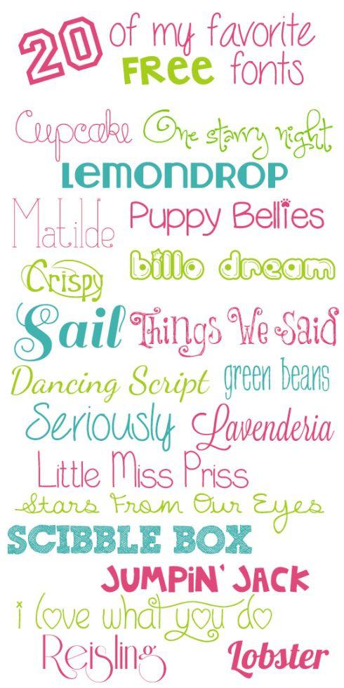 20 of My Favorite Free Fonts   mysunnysideuplife